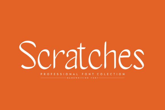 Print on Demand: Scratches Script & Handwritten Font By handmadetipe