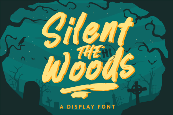 Print on Demand: Silent the Woods Display Font By colllabstudio
