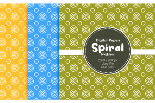 Print on Demand: Spiral Pattern Digital Paper Graphic Backgrounds By Broc Simple 1