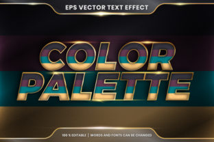 Text Effect in 3D Color Palette Words Graphic Layer Styles By visitindonesia