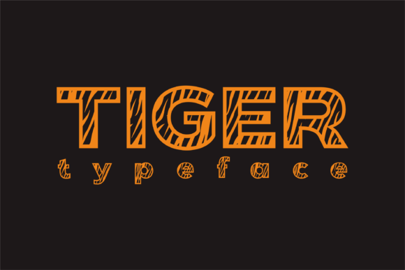 Print on Demand: Tiger Display Font By dickysyafaat