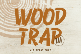 Print on Demand: Wood Trap Display Font By colllabstudio
