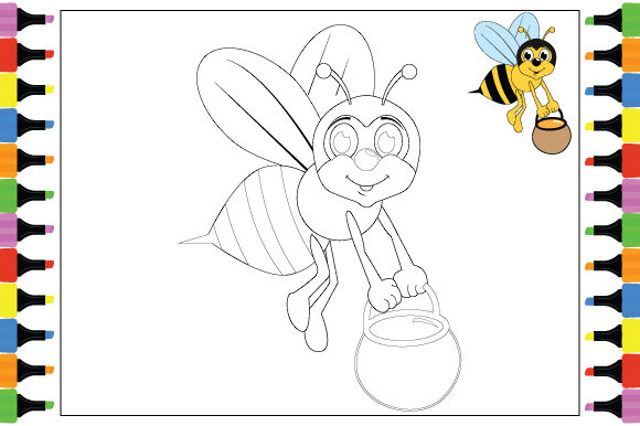 Print on Demand: Coloring Animal Cartoon Sheet for Kids Graphic Coloring Pages & Books By curutdesign