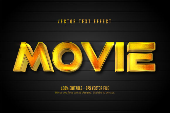 Print on Demand: Golden Style Editable Text Effect Graphic Graphic Templates By Mustafa Bekşen