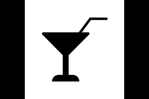 Print on Demand: Wine Straw Symbol Line Icon, Vector Graphic Icons By ojosujono96