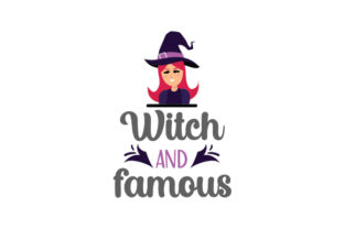 Witch and Famous Halloween Craft Cut File By Creative Fabrica Crafts