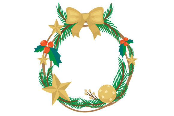 Christmas Wreath Christmas Craft Cut File By Creative Fabrica Crafts