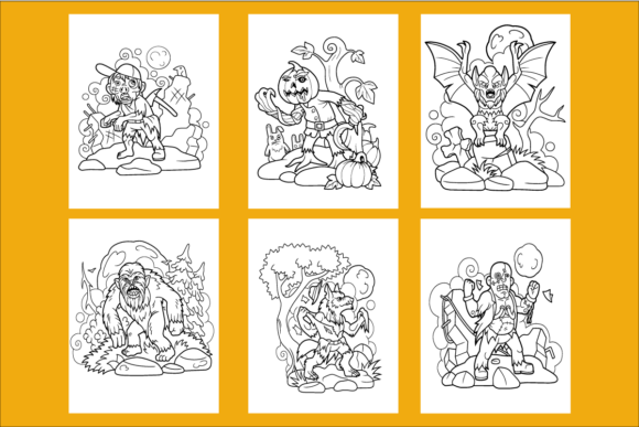 20 Cute Halloween Coloring Pages for KDP Graphic KDP Interiors By KDP_DESIGN - Image 2