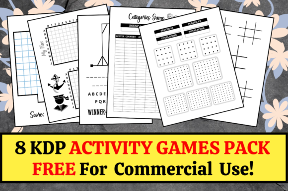 Print on Demand: 8 KDP Activity Games Pack | KDP Interior Graphic KDP Interiors By KDP Mastermind