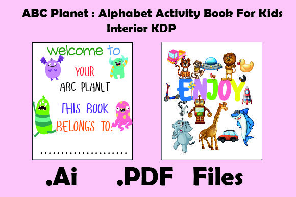Print on Demand: ABC Planet : Alphabet Book for Kids Graphic KDP Interiors By KDP_Interior_101