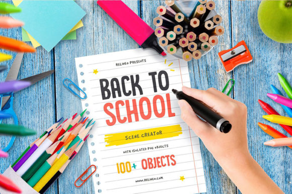 Back to School - Scene Generator Graphic Scene Generators By Relineo