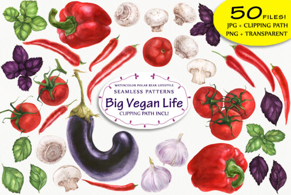 Print on Demand: Big Vegan Collection! Graphic Illustrations By Snowstorm's Box
