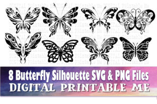 Print on Demand: Butterfly Silhouette Bundle Graphic Crafts By DigitalPrintableMe