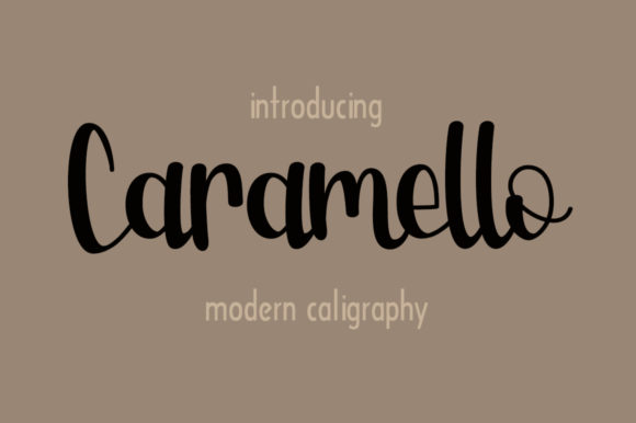Print on Demand: Caramello Script & Handwritten Font By Fillo Graphic