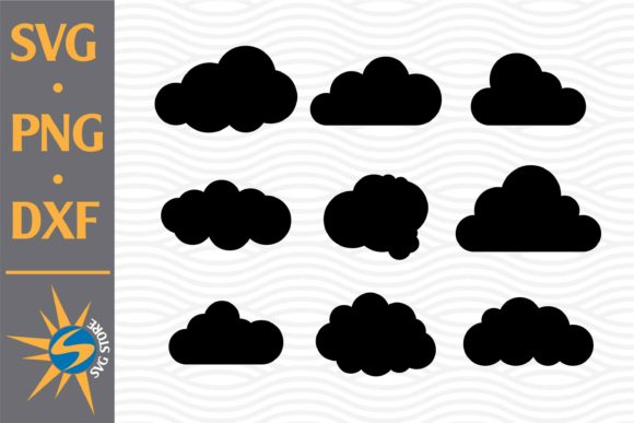 Print on Demand: Cloud Silhouette Graphic Crafts By SVGStoreShop