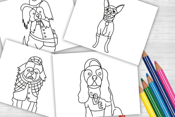 Cute Dog Coloring Page | 14pages Graphic Coloring Pages & Books Kids By Centtaro_product