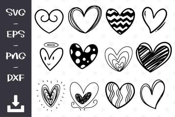 Doodle Heart Graphic Objects By wanchana365