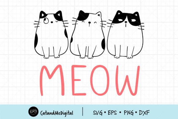 Draw Doodle Cute Cat Graphic Illustrations By CatAndMe