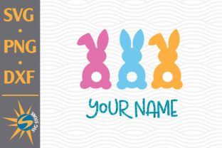 Print on Demand: Easter with Your Name Grafik Plotterdateien von SVGStoreShop
