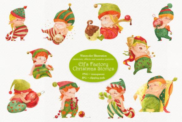 Print on Demand: Elf's Factory Christmas Stories Graphic Illustrations By Snowstorm's Box