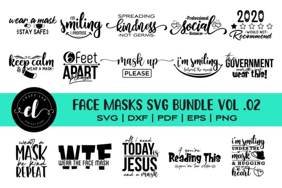 174 Face Mask Svg Designs Graphics