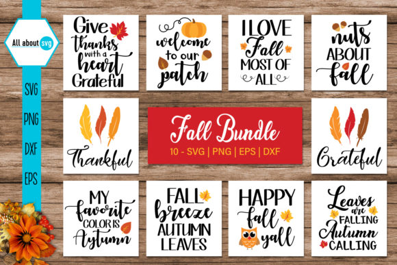 Fall Bundle  Graphic Crafts By All About Svg