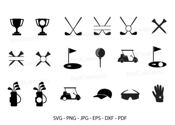 Golf Monogram Frame Golf Clipart Graphic Crafts By RedCreations