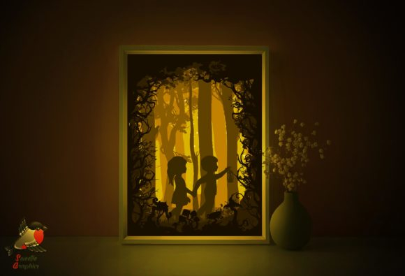 Gretel and Hansel Shadow Box Template Graphic 3D Shadow Box By SweetieGraphics