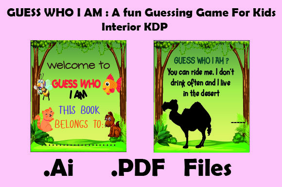 Guess Who I Am: a Guessing Game for Kids Graphic KDP Interiors By KDP_Interior_101