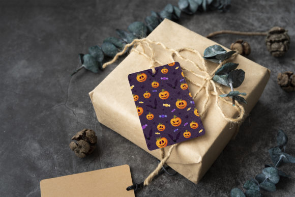 Print on Demand: Halloween Ghost and Spooky Cat Pattern Graphic Patterns By jannta - Image 8