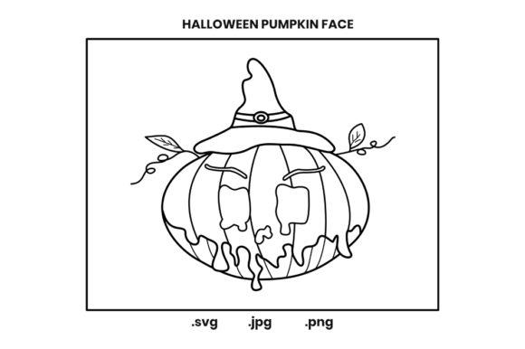 Print on Demand: Halloween Pumpkin Coloring Page for Kids Graphic Coloring Pages & Books Kids By doridodesign