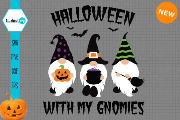 Halloween with My Gnomies Graphic Crafts By All About Svg