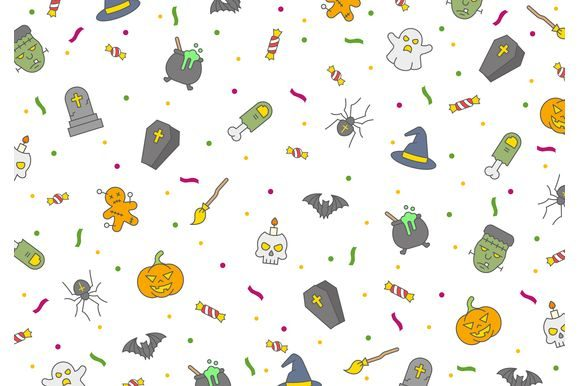 Halloween Seamless Vector Pattern Graphic Patterns By Fox Design