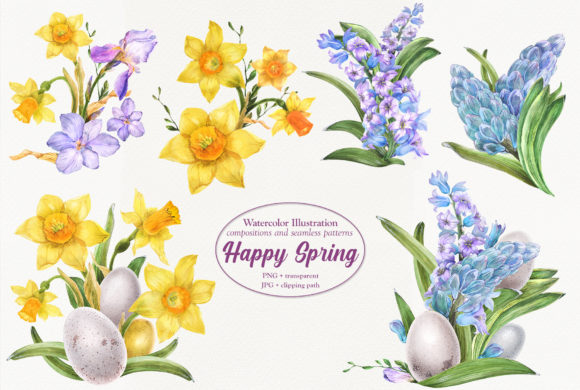 Print on Demand: Happy Spring Graphic Illustrations By Snowstorm's Box