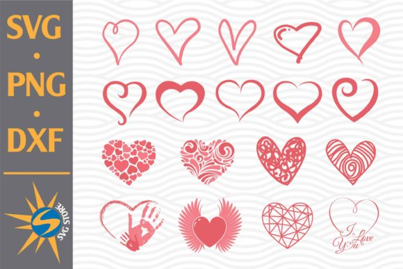 Print on Demand: Heart Collection Graphic Crafts By SVGStoreShop