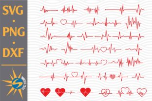 Print on Demand: Heartbeat Bundle Graphic Crafts By SVGStoreShop