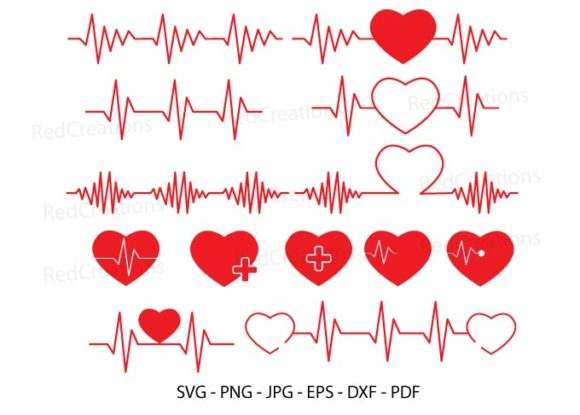 Heartbeat Line Clipart Graphic Crafts By RedCreations