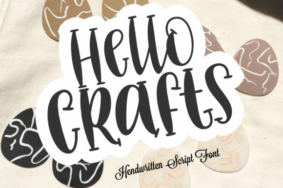 Print on Demand: Hello Crafts Script & Handwritten Font By Aqeela Studio