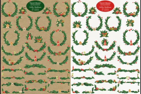 Print on Demand: Holly Christmas Graphic Illustrations By Snowstorm's Box