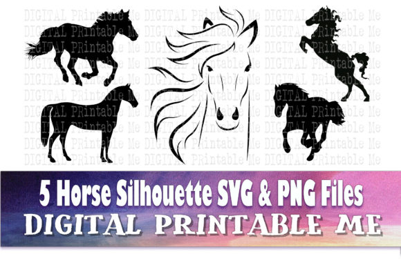 Print on Demand: Horse Silhouette Bundle Graphic Illustrations By DigitalPrintableMe