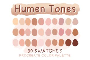 Print on Demand: Humen Tones Procreate Palette Graphic Actions & Presets By Duckyjudy store