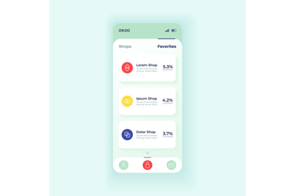 Print on Demand: Internet Shopping Application Interface Graphic UX and UI Kits By bsd studio