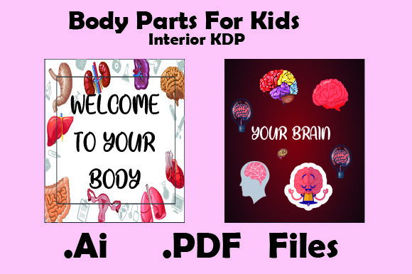 Print on Demand: Kdp Interiors-Body Parts for Kids Graphic KDP Interiors By KDP_Interior_101