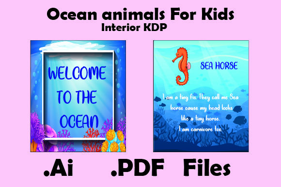 Print on Demand: Kdp Interiors-Ocean Animals for Kids Graphic KDP Interiors By KDP_Interior_101