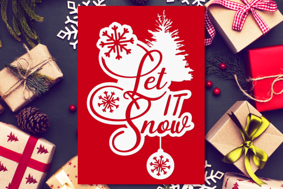 Let It Snow Graphic Crafts By Craft-N-Cuts