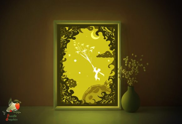 Little Prince Shadow Box Template Graphic 3D Shadow Box By SweetieGraphics