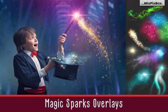 Print on Demand: Magic Sparks Overlays Graphic Layer Styles By MixPixBox