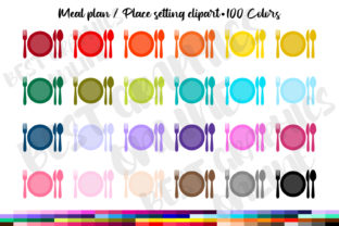 Meal Plan Planner Clipart Place Setting Graphic Illustrations By bestgraphicsonline