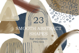 Print on Demand: Modern Smooth Abstract Shapes Graphic Illustrations By Elena Dorosh Art