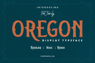 Print on Demand: Oregon Display Font By typotopia
